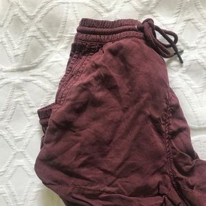 Dark red shorts